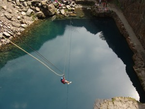 The Blue Lake: Zip Wire, The Zip
