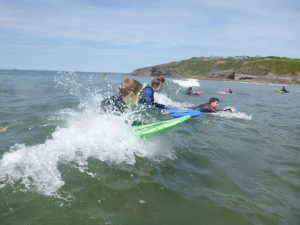 St Davids Bunk Barns: Body Boarding